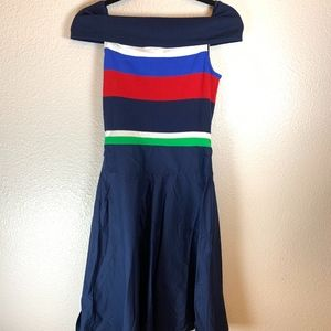 Ralph Lauren Off the Shoulder Fit and Flare Dress